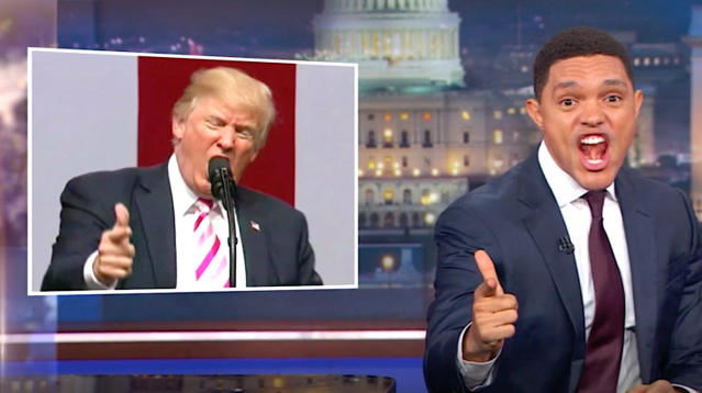 Trevor Noah has torn into President Donald Trump for attacking National Football League players who protest during the national anthem.