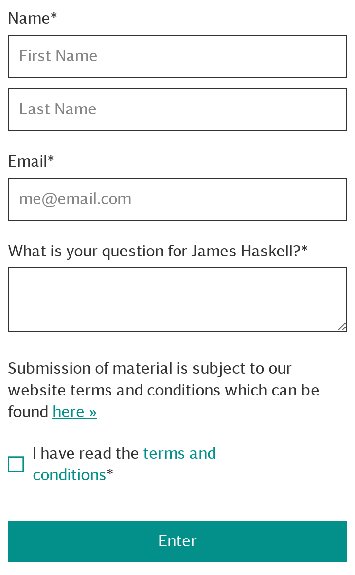 James Haskell Q&A