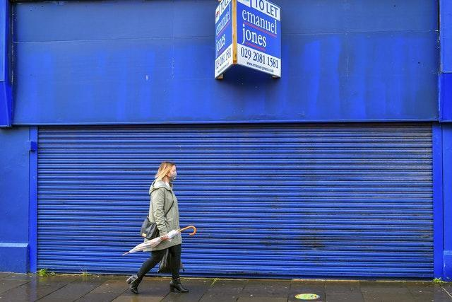 A closed down shop in the shopping centre of Bridgend (Ben Birchall/PA)