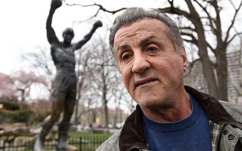Sylvester Stallone is a supporter of the president and attended Trump's New Years' Eve party at Mar-a-Lago in 2016 - Credit: AP