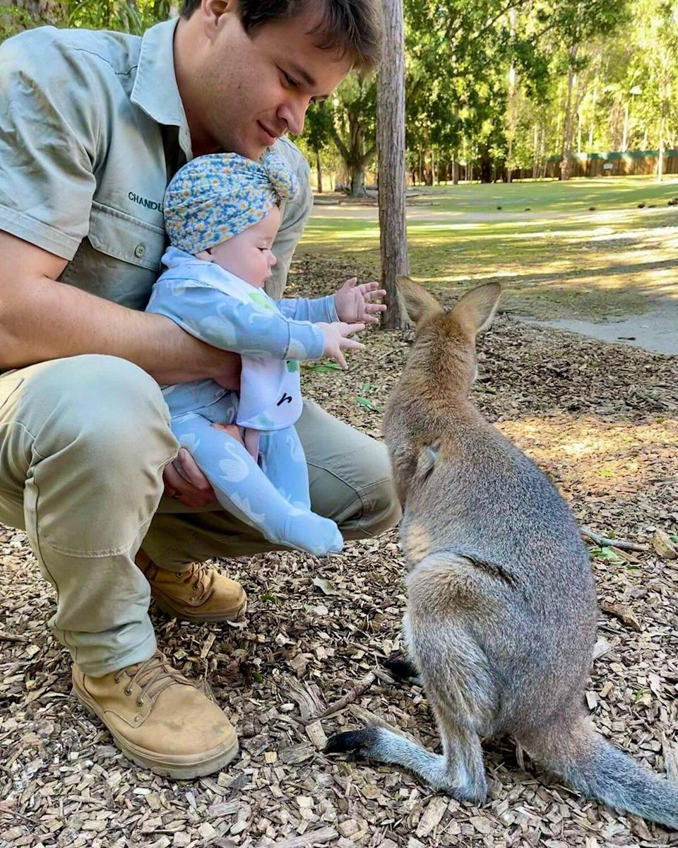 Grace Warrior meets a wallaby