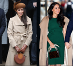 <p>Meghan also knows the value of investing in a timeless piece, like her Sentaler camel coat. After wearing the piece to Sandringham for her first royal Christmas, Meghan wore it again over her shoulders at a charity visit this November. </p>