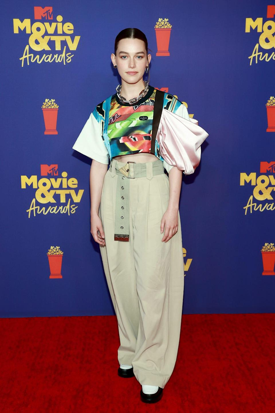 Victoria Pedretti at the 2021 MTV Movie Awards on May 16