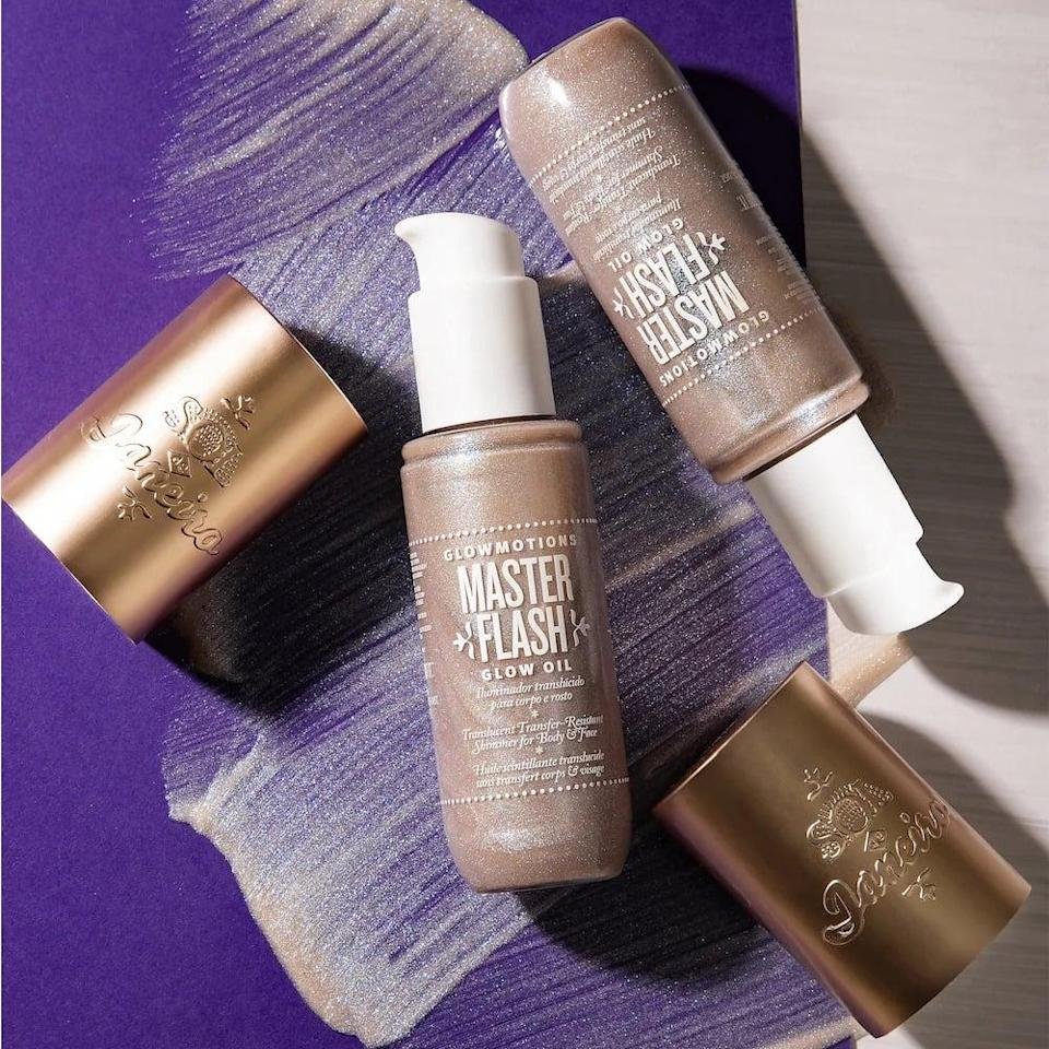 <p>Shimmer and shine all over with the <span>Sol de Janeiro Glowmotions Glow Body Oil</span> ($26, originally $35). The body oil will make your arms, legs, and chest look stunning and sun-kissed on the beach.</p>