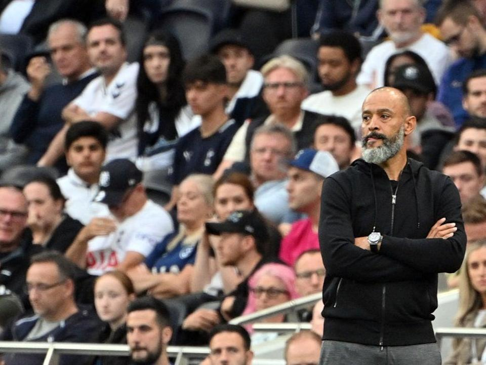 Nuno: I believe the first half was really good. So if there's only one positive, that was the first half (AFP via Getty Images)