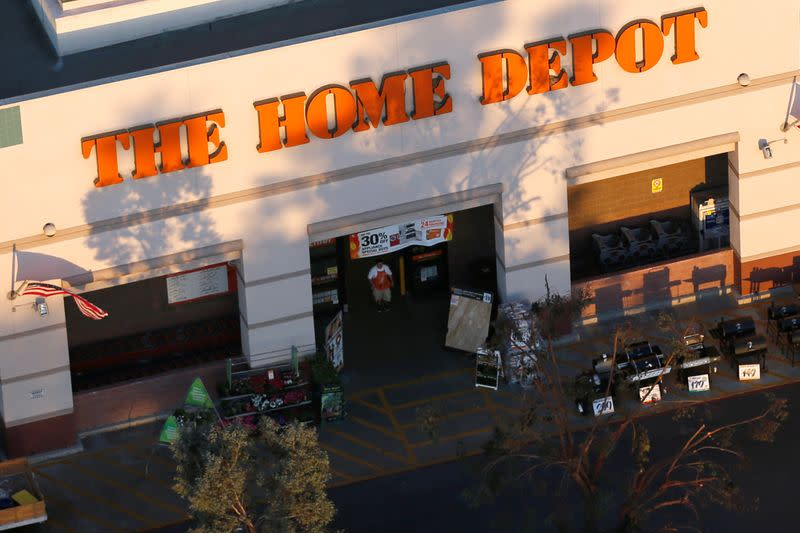 FILE PHOTO:  A Home Depot store is seen in Long Beach