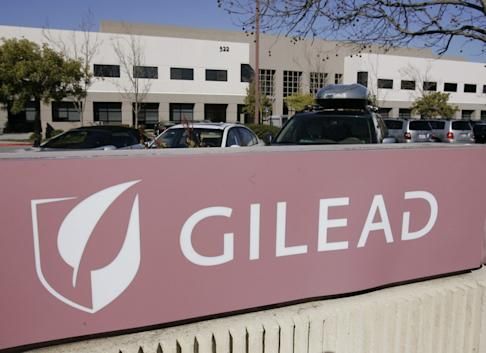 The corporate logo of Gilead Sciences is seen at its headquarters in Foster City, California. Studies for the company's experimental drug, remdesivir, is being expanded into more countries outside China. Photo: AP