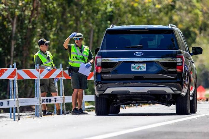 Members of Monroe County Fire Rescue will help staff the two checkpoints set up on the two main roads leading into the Florida Keys. The checkpoints are also staffed and are commanded by the sheriff's office.