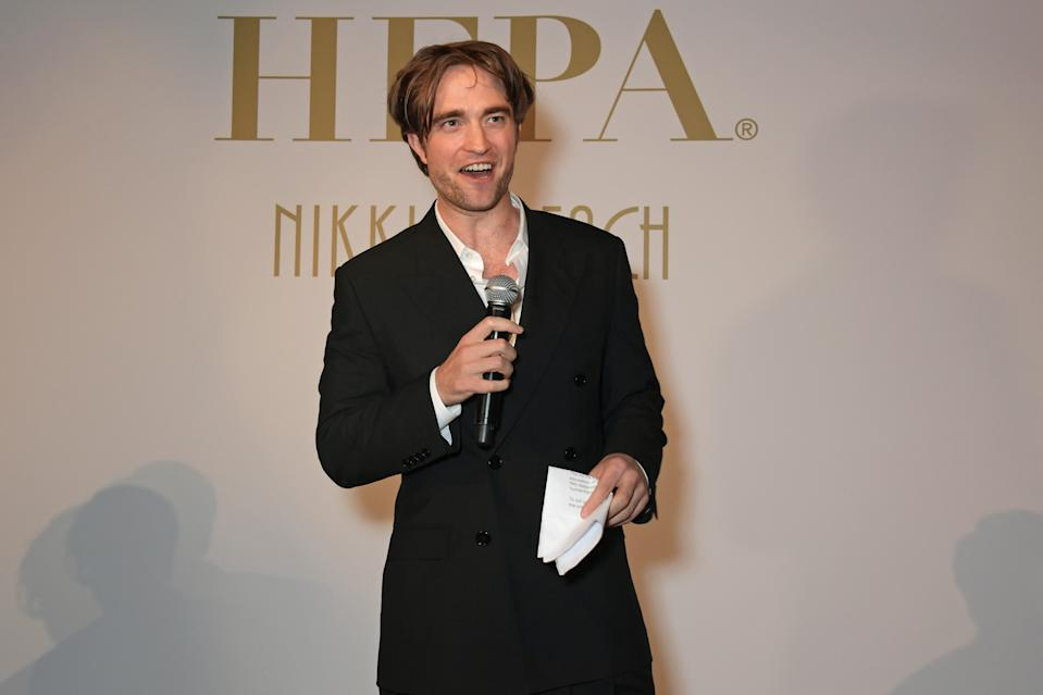 CANNES, FRANCE - MAY 19:  Robert Pattinson at Nikki Beach for the HFPA + Participant Media event honoring Help Refugees on May 19, 2019 in Cannes, France.  (Photo by David M. Benett/Dave Benett/Getty Images for Nikki Beach Cannes)