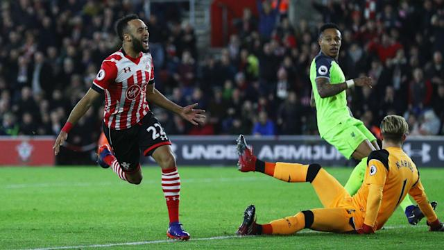 Nathan Redmond broke his goal drought to give Southampton a 1-0 lead over Liverpool in the EFL Cup semi-finals.