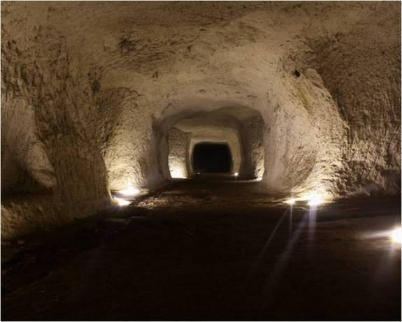 Ancient Romans quarried rock to build their city, which later expanded over the tunnels.