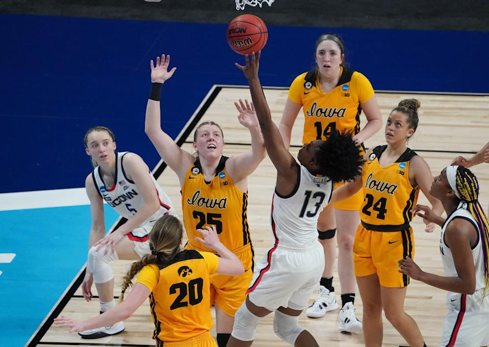 The ratings for the game between Connecticut and Iowa were the second best in women's basketball Sweet 16 history.
