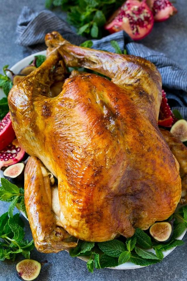"<p>Even if it's your very first time hosting <a href=""https://www.countryliving.com/life/a25020918/what-day-is-thanksgiving/"">Thanksgiving</a>, this blogger promises you can master her recipe. She notes that ""even a novice cook"" can make it.</p><p><strong>Get the recipe at <a href=""https://www.dinneratthezoo.com/roast-turkey-for-thanksgiving/"" target=""_blank"">Dinner at the Zoo</a>.</strong></p><p><strong><a class=""body-btn-link"" href=""https://go.redirectingat.com?id=74968X1596630&url=https%3A%2F%2Fwww.walmart.com%2Fip%2FCuisinart-Stainless-Steel-16-Roasting-Pan-with-Rack%2F35486154&sref=http%3A%2F%2Fwww.countryliving.com%2Ffood-drinks%2Fg1365%2Fturkey-recipes%2F"" target=""_blank"">SHOP ROASTING PANS</a><br></strong></p>"