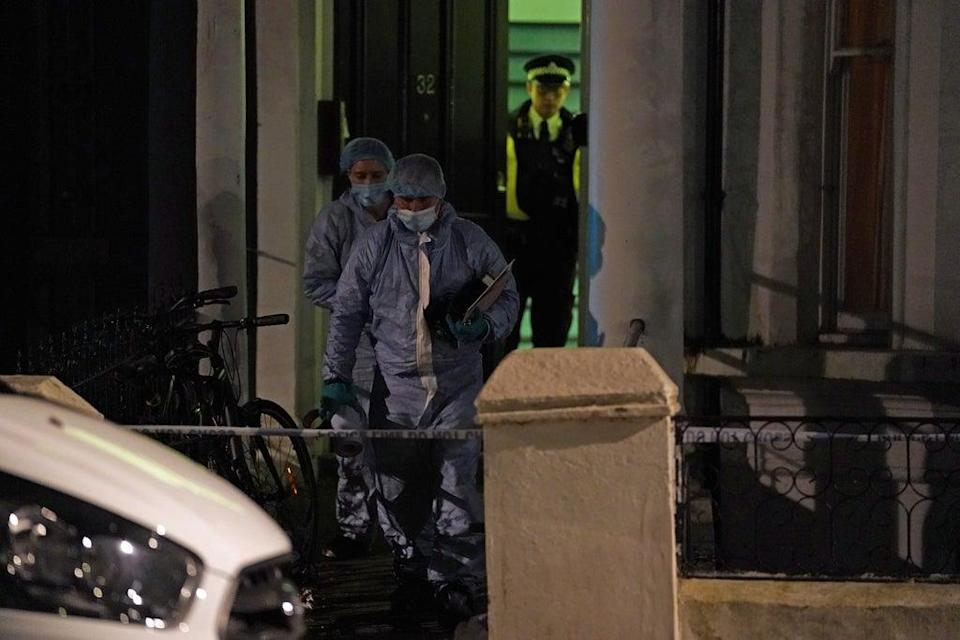 Police officers at the scene in St Luke's Road, Notting Hill, west London (Kirsty O'Connor/PA) (PA Wire)