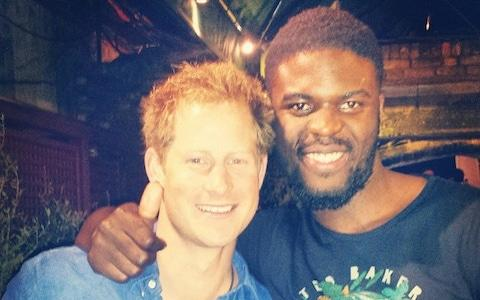 Lokko and Prince Harry - Credit: Telegraph