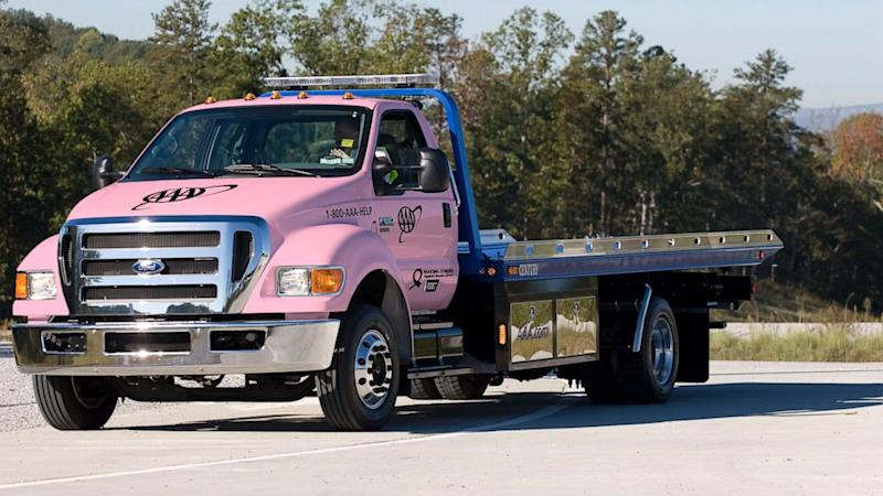 Pink Tow Trucks Take Breast Cancer Awareness On The Road