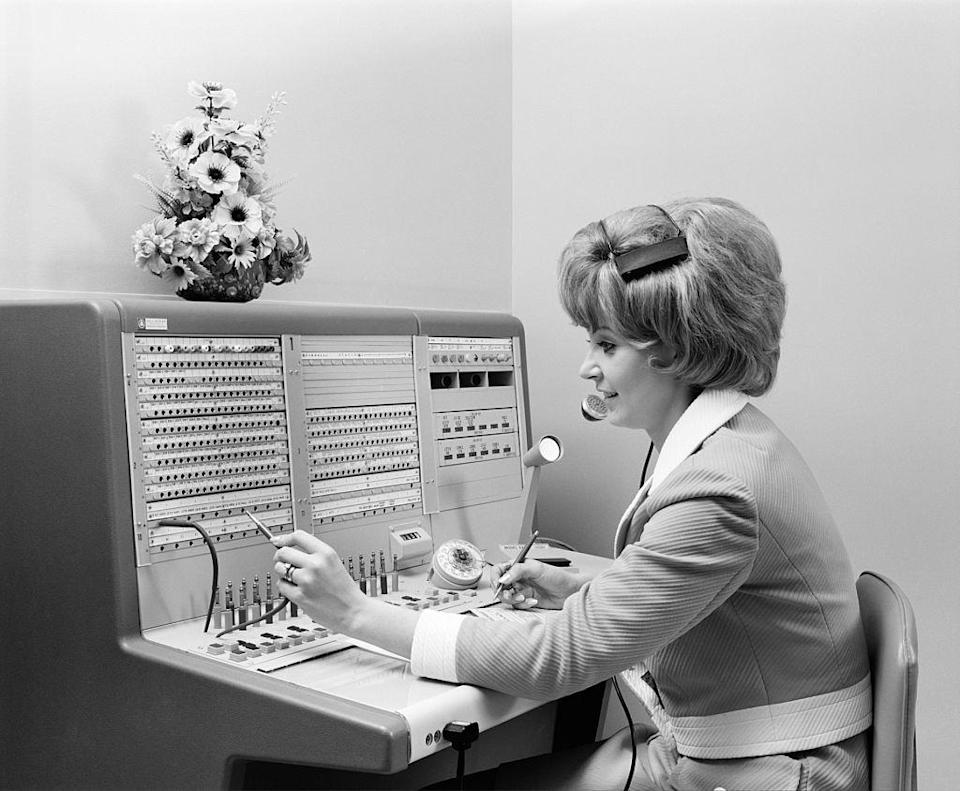 """<p>There were still switchboard operators in the '70s, but newer technology allowed for calls to be put through without the operator's control. This <a href=""""https://www.nytimes.com/1996/06/04/us/once-a-friendly-fixture-a-telephone-operator-finds-herself-obsolete.html"""" rel=""""nofollow noopener"""" target=""""_blank"""" data-ylk=""""slk:greatly decreased the need for a manual connection"""" class=""""link rapid-noclick-resp"""">greatly decreased the need for a manual connection</a> and the job began to be phased out. </p>"""