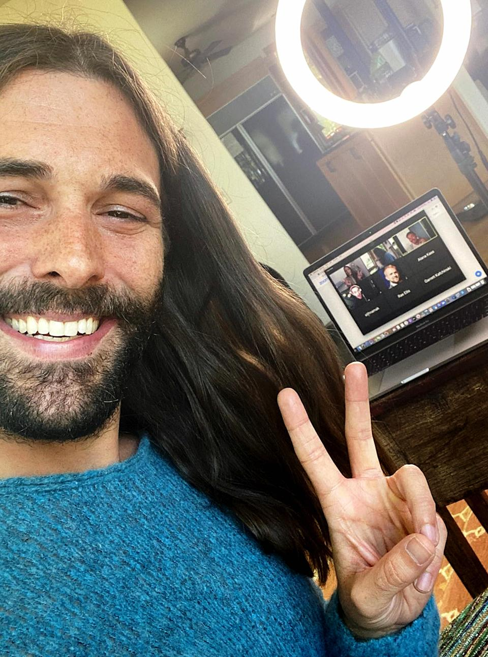 Jonathan Van Ness at a recent live stream highlighting the LGBTQ response to COVID-19. (GLAAD2020/Getty Images for GLAAD)