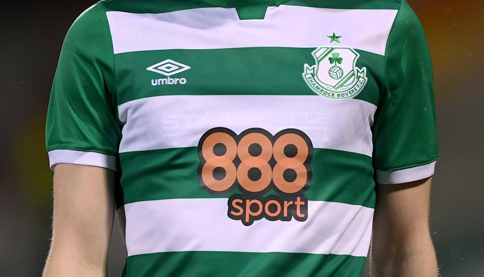Shamrock Rovers jersey featuring the club's main sponsor 888sport. Photo: Stephen McCarthy/Sportsfile via Getty