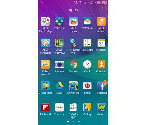 Galaxy Note 4 smartphone apps