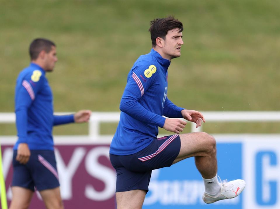Harry Maguire in England training (Getty Images)