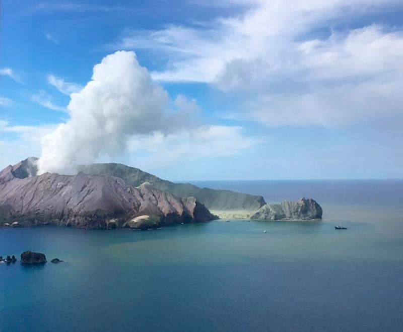 Volcano off New Zealand coast erupting on White Island on Monday, killing six and seriously injuring several Australians.