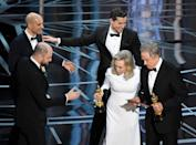 Faye Dunaway and Warren Beaty made headlines around the world when they announced the wrong 'Best Picture' award at the 2017 Oscars. The pair were handed the envelope for 'Best Actress' and called out 'La La Land', when the actual winner was in fact 'Moonlight'. Photos: Getty Images