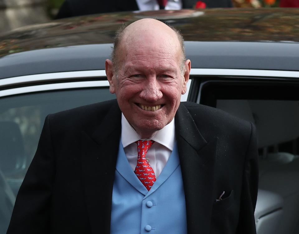 File photo dated 12/10/18 of Princess Eugenie's father-in-law George Brooksbank, who has thanked NHS staff for saving his life after he was left battling the coronavirus in intensive care.