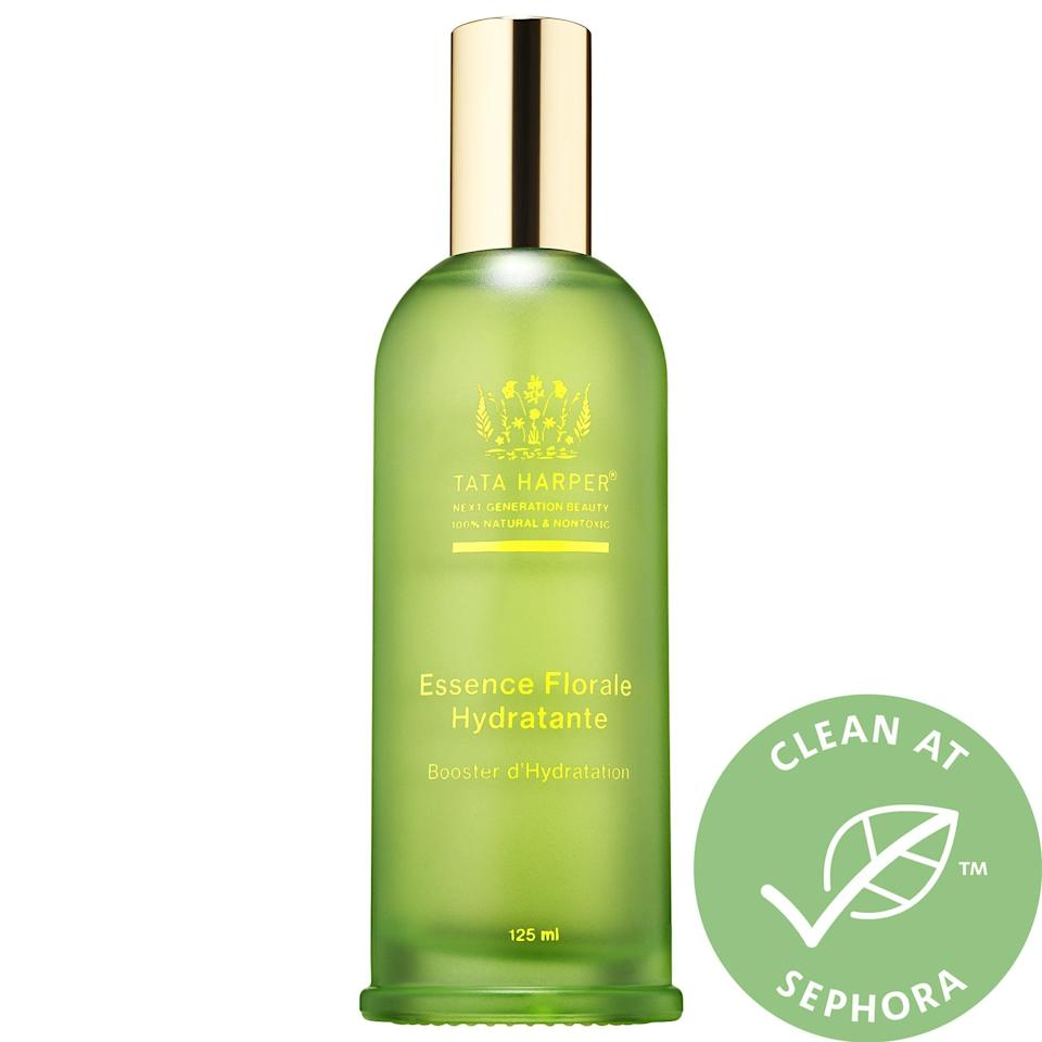 """<p>OK, so it's not your traditional """"toner,"""" but the <span>Tata Harper Hydrating Hyaluronic Acid Floral Essence</span> ($72) is the perfect mist to use post-cleanse and pre-moisturizer to give your skin a boost of glow - who wouldn't want <em>that</em>?</p>"""