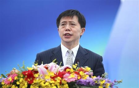 Ji, then mayor of Haikou city, speaks at the opening ceremony of a yatch race in Haikou