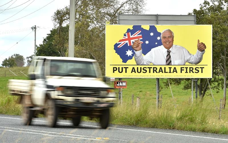 In conservative-leaning Queensland state, disillusioned voters are moving further right to support mining magnate Clive Palmer's United Australia Party (AFP Photo/PETER PARKS)