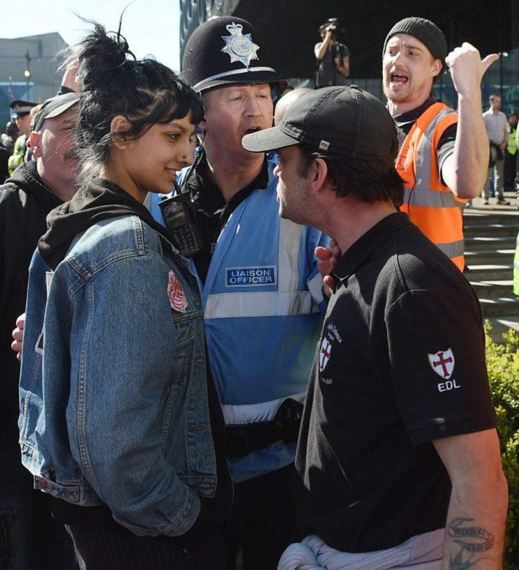 This is of Saffiyah Khan, from Birmingham, has been hailed as iconic (PA)