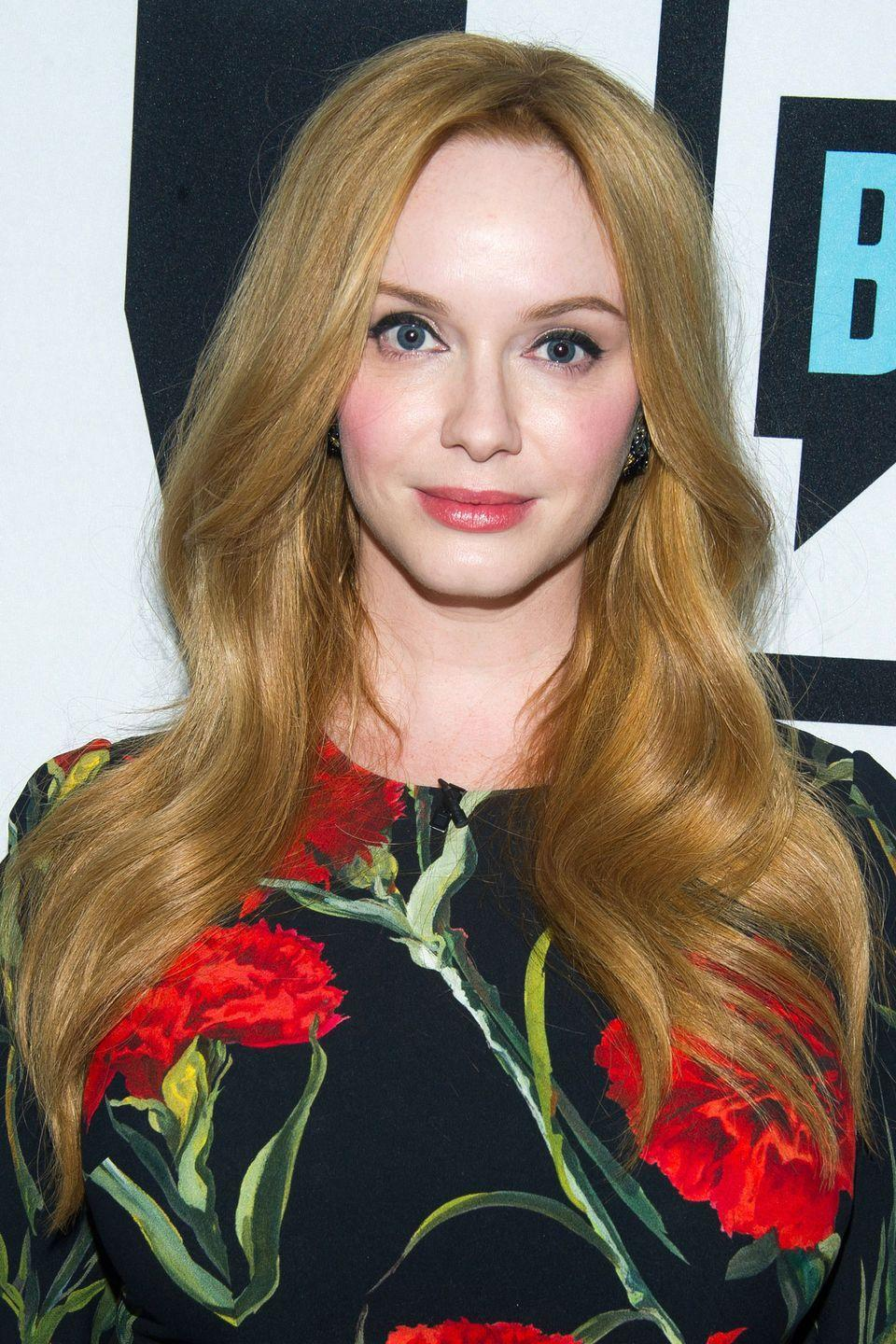 """<p>But it's when Christina went strawberry blonde for a <a href=""""https://www.amazon.com/Clairol-Natural-Medium-Brown-Permanent/dp/B001E95FUQ/ref=sr_1_3_a_it?tag=syn-yahoo-20&ascsubtag=%5Bartid%7C10050.g.4942%5Bsrc%7Cyahoo-us"""" rel=""""nofollow noopener"""" target=""""_blank"""" data-ylk=""""slk:Clairol Nice 'n Easy"""" class=""""link rapid-noclick-resp"""">Clairol Nice 'n Easy</a> campaign that we got a hint of what she'd look like with her natural flaxen color.</p>"""