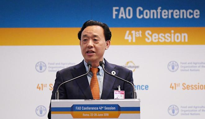 The US failed in its efforts to thwart the election of Qu Dongyu to the UN's Food and Agriculture Organisation in August. Photo: Xinhua