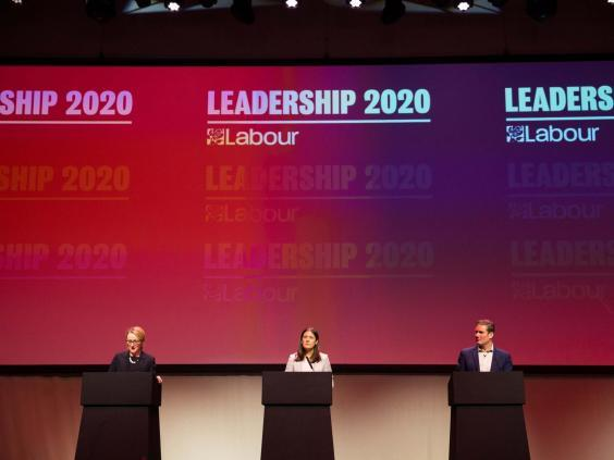 Labour leadership contenders Rebecca Long-Bailey, Lisa Nandy and Keir Starmer (Getty)
