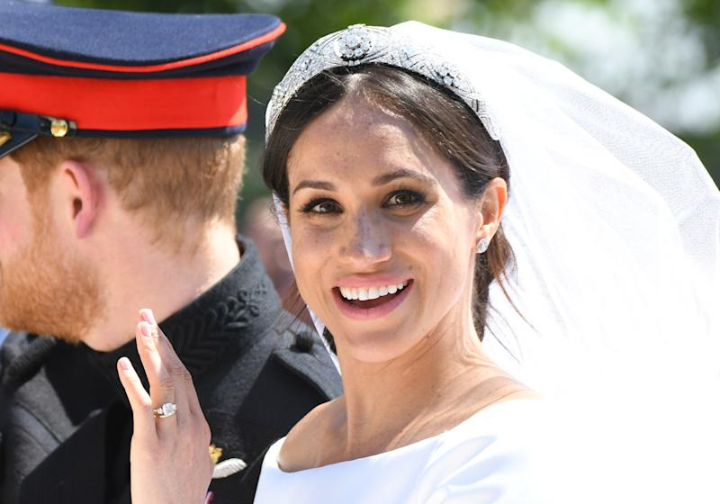 Have Meghan Markle's wedding day freckles have sparked a beauty trend? [Photo: Getty]