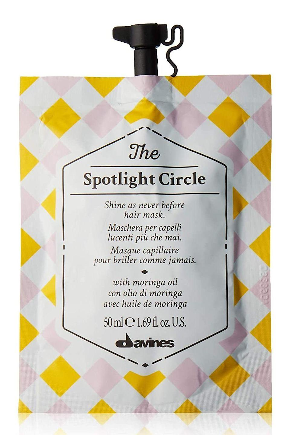 """<p><strong>Davines</strong></p><p>amazon.com</p><p><strong>$10.00</strong></p><p><a href=""""https://www.amazon.com/dp/B076QCQ8HY?tag=syn-yahoo-20&ascsubtag=%5Bartid%7C2140.g.35717314%5Bsrc%7Cyahoo-us"""" rel=""""nofollow noopener"""" target=""""_blank"""" data-ylk=""""slk:shop"""" class=""""link rapid-noclick-resp"""">shop</a></p><p>A <a href=""""https://www.cosmopolitan.com/style-beauty/beauty/advice/a5159/hair-mask-for-hair-type/"""" rel=""""nofollow noopener"""" target=""""_blank"""" data-ylk=""""slk:hair mask"""" class=""""link rapid-noclick-resp"""">hair mask</a> that doesn't weigh down even the most baby-fine strands?! Yes, it exists, and it comes inside this little packet with a clever closable lid. The formula is free of silicones, but full of vitamins, fatty acids, and proteins.</p>"""