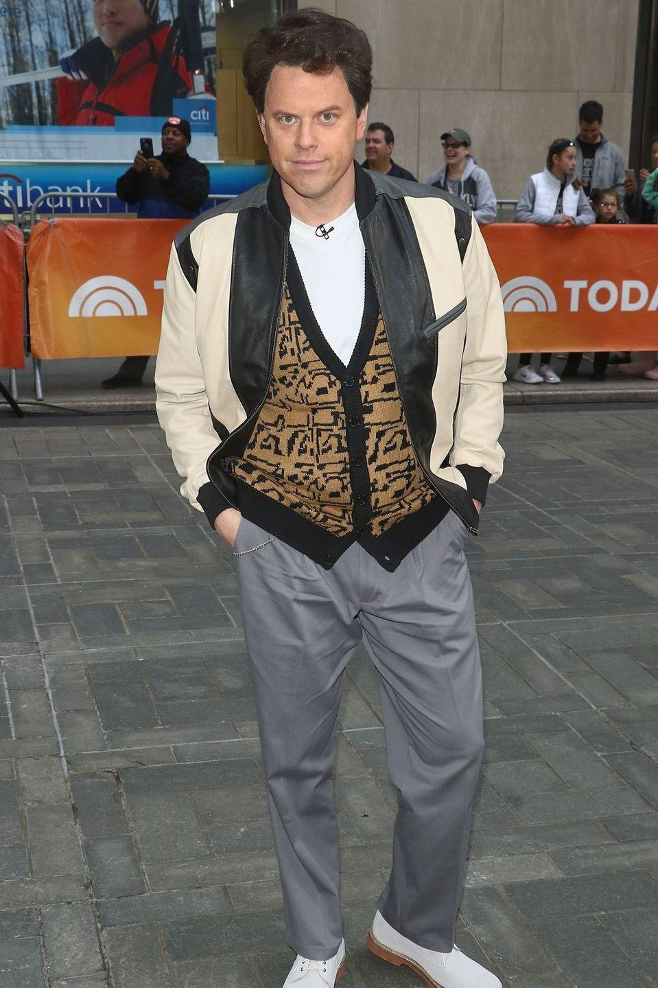 """<p>You don't need to take the whole day off to put together this Ferris Bueller costume (though you can if it helps you get into the spirit). Just layer a vest over a plain white T-shirt and pair it with a beige jacket and slacks.</p><p><strong>What You'll Need: </strong><a href=""""https://www.amazon.com/Bueller-Costume-Matthew-Broderick-Sweater/dp/B014F0M29C?tag=syn-yahoo-20&ascsubtag=%5Bartid%7C10070.g.28166042%5Bsrc%7Cyahoo-us"""" rel=""""nofollow noopener"""" target=""""_blank"""" data-ylk=""""slk:sweater vest"""" class=""""link rapid-noclick-resp"""">sweater vest</a>, <a href=""""https://www.amazon.com/CRYSULLY-Active-Classic-Closure-Jacket/dp/B07Z4J23T9?tag=syn-yahoo-20&ascsubtag=%5Bartid%7C10070.g.28166042%5Bsrc%7Cyahoo-us"""" rel=""""nofollow noopener"""" target=""""_blank"""" data-ylk=""""slk:beige jacket"""" class=""""link rapid-noclick-resp"""">beige jacket</a>, and <a href=""""https://www.amazon.com/Goodthreads-Standard-Straight-Fit-Porkchop-Stretch/dp/B07JXK749K?tag=syn-yahoo-20&ascsubtag=%5Bartid%7C10070.g.28166042%5Bsrc%7Cyahoo-us"""" rel=""""nofollow noopener"""" target=""""_blank"""" data-ylk=""""slk:gray pants"""" class=""""link rapid-noclick-resp"""">gray pants</a></p>"""