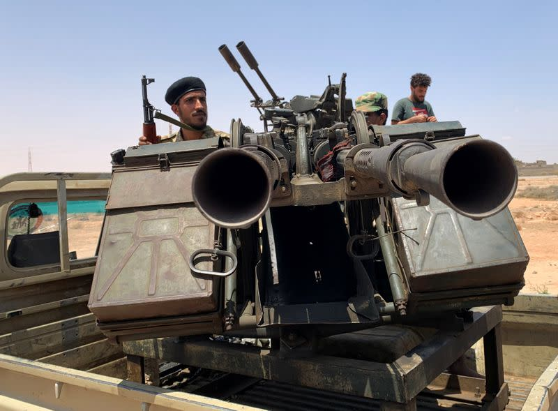 Libyan GNA fighters head for front as battle for Sirte looms