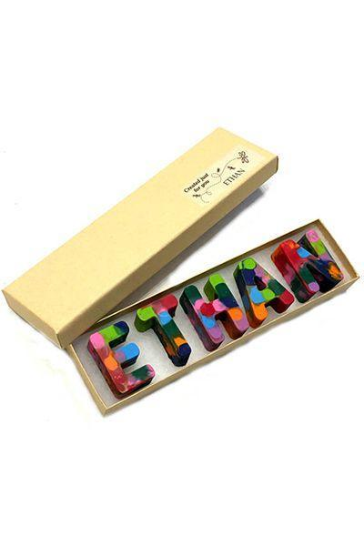 """<p>$10 and up</p><p><a rel=""""nofollow noopener"""" href=""""https://www.etsy.com/listing/588264915/easter-gift-name-crayons-in-a-gift-box"""" target=""""_blank"""" data-ylk=""""slk:SHOP NOW"""" class=""""link rapid-noclick-resp"""">SHOP NOW</a></p><p>If art is his or her favorite class, give a set of these customized <a rel=""""nofollow noopener"""" href=""""https://www.amazon.com/stores/Crayola/Crayola/page/62526C66-0AEE-4925-829D-D35A73DCD4C3"""" target=""""_blank"""" data-ylk=""""slk:Crayola"""" class=""""link rapid-noclick-resp"""">Crayola</a> crayons that spell out their name in a rainbow of colors. </p>"""