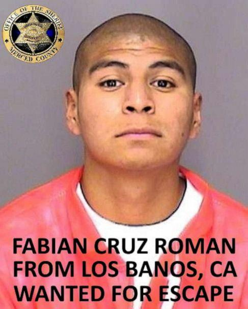 PHOTO: Fabian Cruz Roman is seen in this undated photo released by the Merced County Sheriff's Office. (Merced County Sheriff's Office via Facebook)