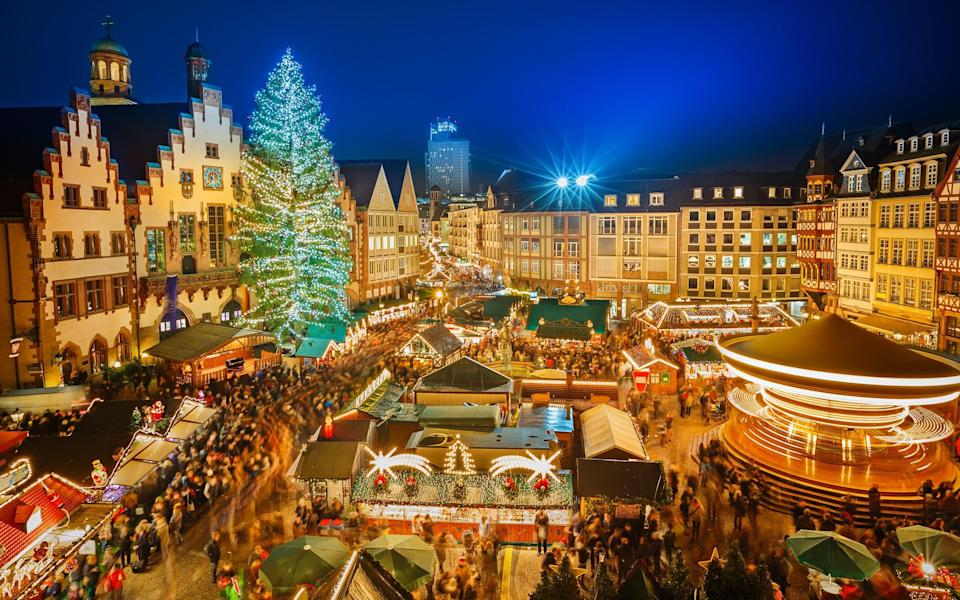 Frankfurt's Christmas market is going ahead this year, and many winter river cruises include a visit to it - GETTY