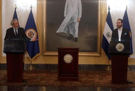 El Salvador's President Bukele signs an agreement to create the International Commission against Impunity in El Salvador in San Salvador
