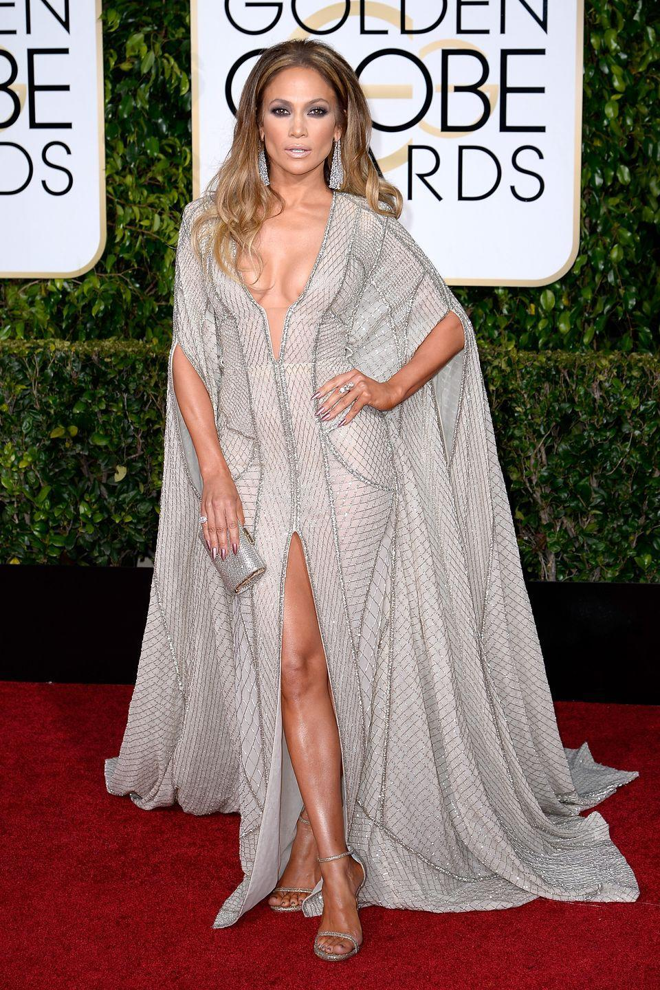 <p>Lopez brought the drama in this caftan-inspired in Zuhair Murad dress in 2015.</p>