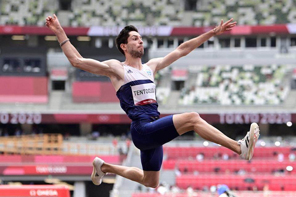 Miltiadis Tentoglou won long jump gold for Greece in dramatic fashion on Day Ten (AFP via Getty Images)
