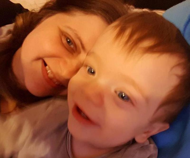 First-time UK mum Tasha Burton, 36, suffered stomach pains and extreme fatigue during her pregnancy with Alaric Corley, now 16 months, but put it down to a difficult pregnancy. It turns out she had bowel cancer. Source: Just Giving/ Support Tasha's Journey