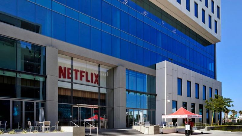 Netflix's headquarters located on Sunset Blvd. on April 20, 2020 in Hollywood, California