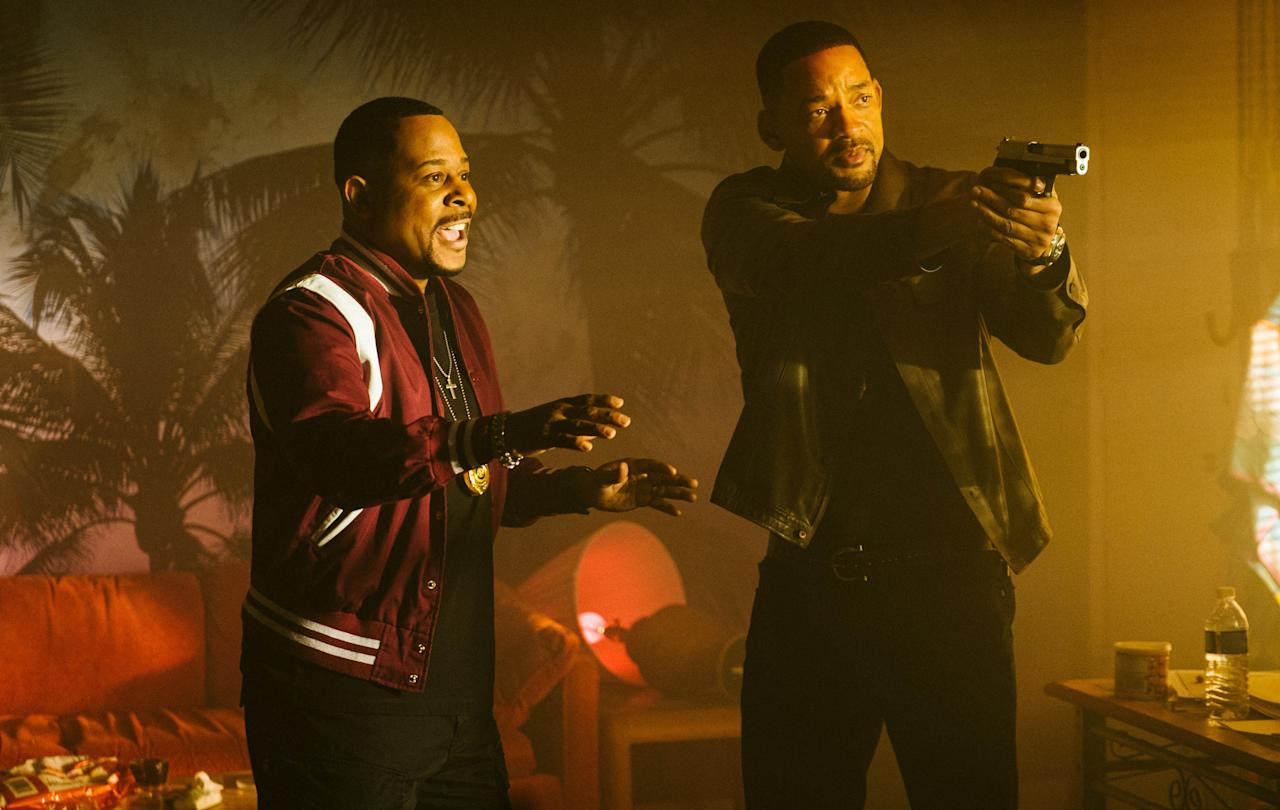 Will Smith and Martin Lawrence are bringing their <em>Bad Boys</em> characters—cops Mike Lowrey and Marcus Burnett—back for one last run. Whatcha gonna do? <em>(In theaters January 17)</em>