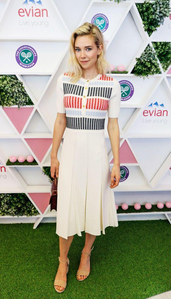 <p>The Crown star wore a tea dress to the event. </p>