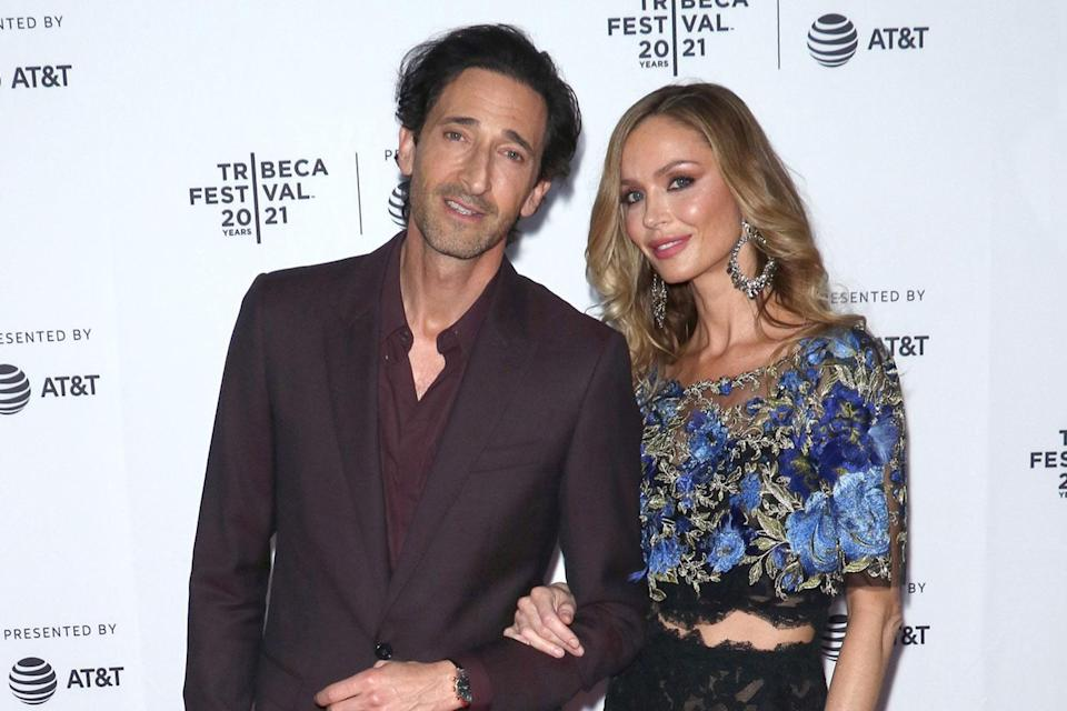 <p>Adrien Brody and Georgina Chapman make their red carpet debut as a couple at the premiere of <em>Clean</em> at the Tribeca Film Festival.</p>
